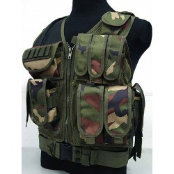 Tactical Mesh vest Deluxe woodland