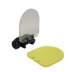 Protections pour optique 2 écrans jaune et incolore
