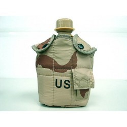 Water bottle with cup, pouch desert 3 colors