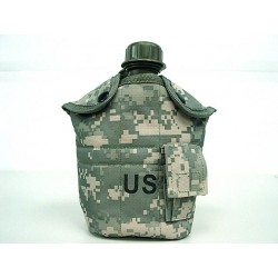 Water bottle with cup, pouch Digital ACU