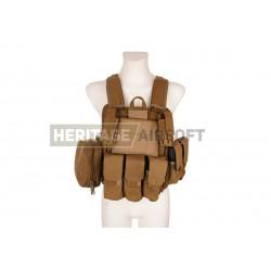 Ciras MAR gilet d'assaut porte plaques avec poches MOLLE Coyote GFC