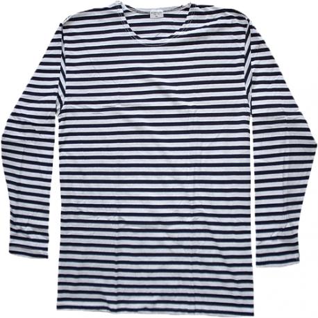 Marinière - Manches longues style russe rayée bleu foncé / blanc