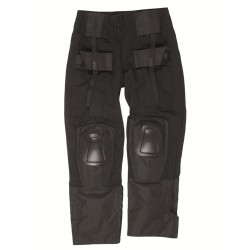 Tactical pants with knees pads Black