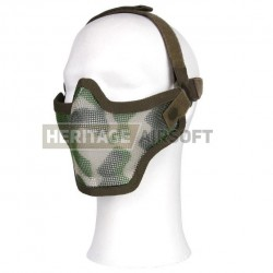 Masque grillagé 2 bandes de fixation multi camo