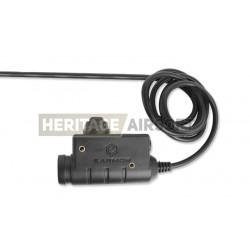 PTT Noir - Micro pour casque de communication compatible Midland - Earmor