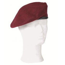 German Red Wool Beret