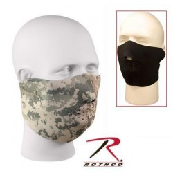 Reversible Neoprene Half Face Mask Digital, Black