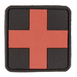 Patch PVC medic noir rouge