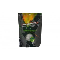 Bille Bio 6mm airsoft 0,25 Rockets Professional BBs - 1kg - Blanc