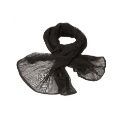 Net Scarf Black