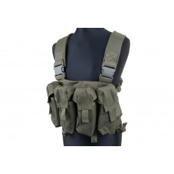 Brelage AK - Chest Rig pour chargeurs AK M4 - Olive