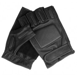 Mitts stuffed leather Black