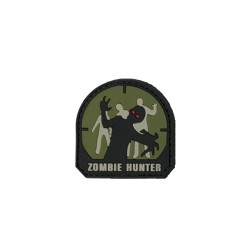 Ecusson PVC avec scratch Zombie hunter NOIR