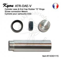 Cylindre pour cartouche CO2 Thunder B - avec bagues et anneau de support pièce ATR-OAE-V