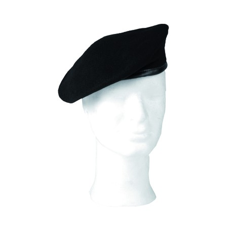 German Black Wool Beret