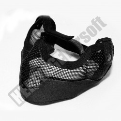Masque grillagé airsoft de protection - Grand modèle - Noir