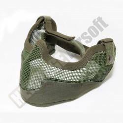 Masque grillagé airsoft de protection - Grand modèle - Olive - Mil-Tec PMEL