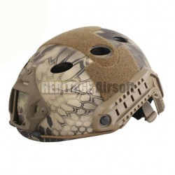 Casque Airsoft FAST PJ Kryptech Highlands - Carbon - Réglable