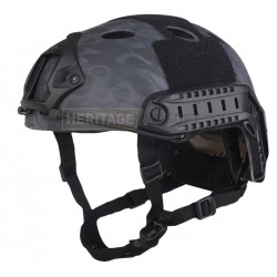 Casque FAST PJ Kryptek Typhoon - Carbon - Réglable