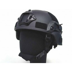 MICH helmet with NVG Mount & Side Rail, black color Replica