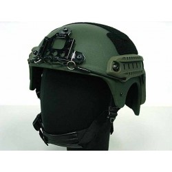 Casque IBH + support NVG + rail latéral - Olive