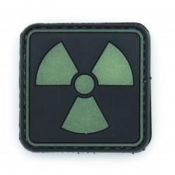 Ecusson PVC avec scratch - Radioactivité