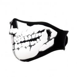 Masque néoprène - Noir - Motif tête de mort