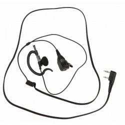 Micro-oreillette PTT prise coudée 2 jack (connectique Kenwood ®)