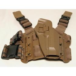 Holster rigide CQC - M9 / M92 - Plateforme + Support ceinture - Tan