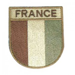 France Patch Velcro low visibility Desert