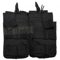Porte chargeur double MOLLE M4 M16 ouverte noir MFH
