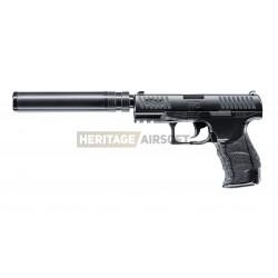 Walther PPQ Navy noir avec silencieux réplique à ressort