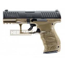Walther PPQ culasse métal Dual Tone coyote et noir réplique à ressort [ Spring ]