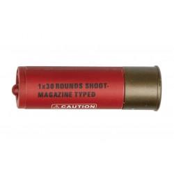 Cartouche 30 billes pour fusil à pompe rouge par 4