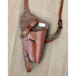 Chest Colt 45 holster light brown replica