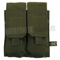 Porte chargeur double MOLLE M4 M16 olive MFH