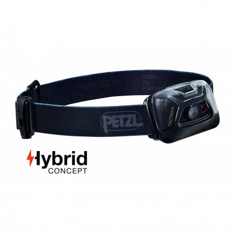 Lampe frontale Hybrid éclairage 2 couleurs Tactikka noir - 200 Lumens - Petzl