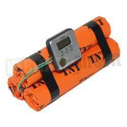 Bombe factice TNT avec chronomètre