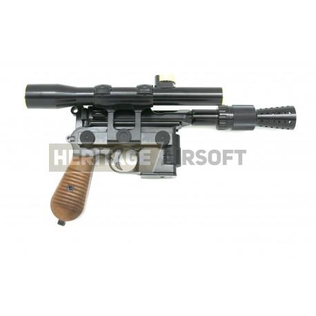 DL-44 blaster Han Solo DL44 - Pistolet d'airsoft - custom Mauser C96 DL-44 Armorer Works