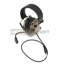 Casque de communication M32 Dark Earth - Earmor
