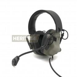 Casque de communication M32 Vert Foliage - Earmor
