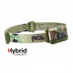 Lampe frontale Hybrid éclairage 2 couleurs Tactikka camouflage - 300 Lumens - Petzl