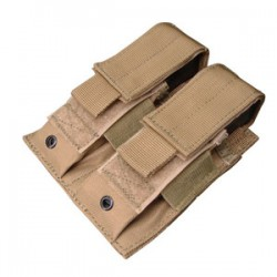 Double MOLLE PA Magazine Pouch Tan