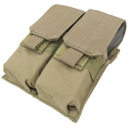 Double M4 M16 Molle Magazine Pouch Tan