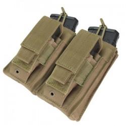 Poche porte chargeurs MOLLE M4 M16 - Double kangourou - Tan - Condor