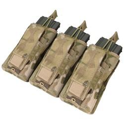 Porte-chargeurs MOLLE - M4 M16 AK - Triple kangourou - MultiCam - Condor