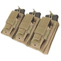Porte-chargeurs MOLLE- M4 M16 AK - Triple kangourou - Tan - Condor