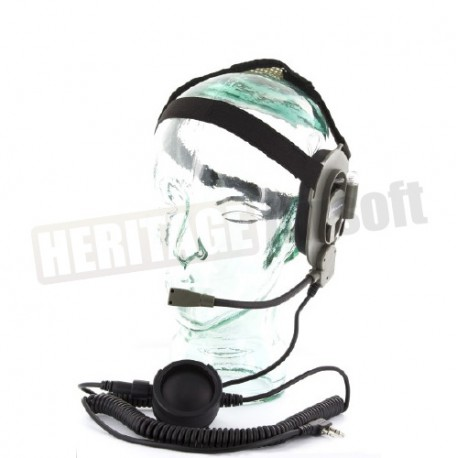 Casque Audio Bow M Tactical Head Set Heritage Airsoft