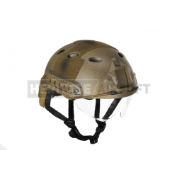 Casque Fast visière camo seals - Carbon - Version Eco