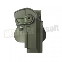 Polymer Holster for BERETTA 92 and M9 with belt support, Olive